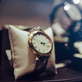 view of a luxury watch
