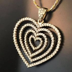 view of a heart shaped pendant